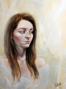 Girl In Blue (acrylic on canvas) 80 x 60 cm