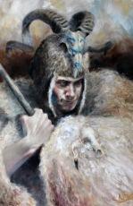 Hunter (oil on canvas 91 x 60cm) Link to blog: https://pixeldeath.co.uk/2017/06/29/hunter/