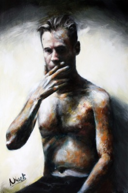 Iron Man (oil on canvas 91 x 60cm) Link to blog: https://pixeldeath.co.uk/2017/07/04/iron-man/