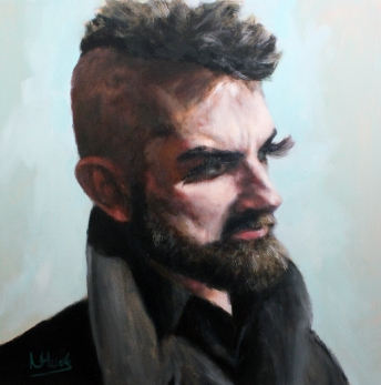 Profile of a Man (oil on canvas 61 x 61cm)