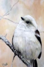 Shima-Enaga (oil on canvas 91 x 60 cm)