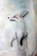 Winter Fox (oil on canvas 91 x 60cm)