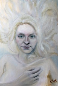 Girl In White (oil on canvas 91 x 60 cm)