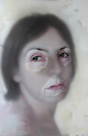 'Untitled Woman' Oil on Perspex panels (90 x 60cm)